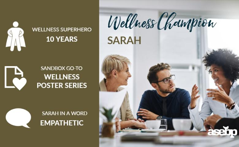 Wellness Champion Spotlight: Sarah S.